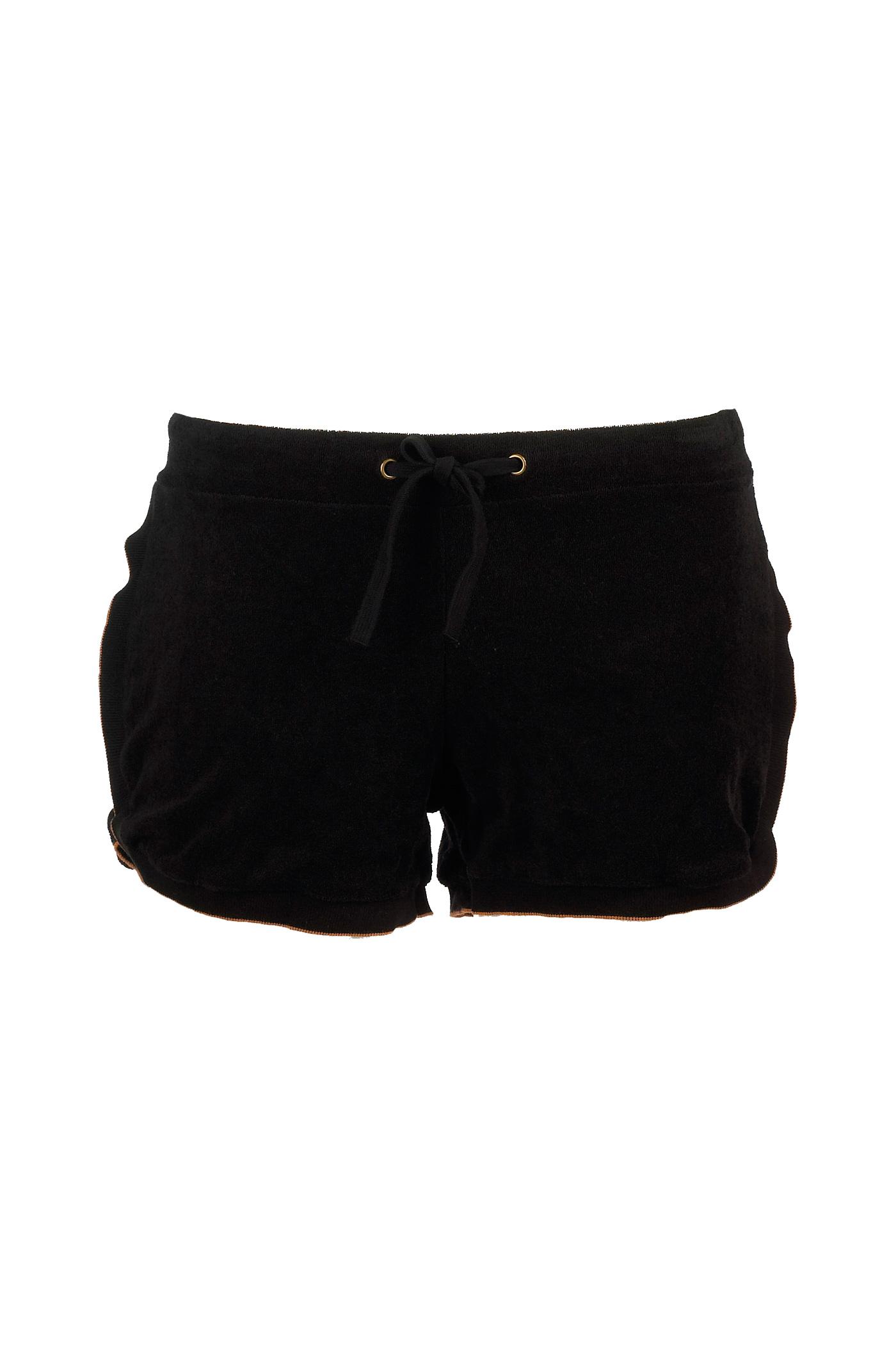 Femmes Mini short éponge noir