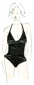 swimsuit with details and cuts