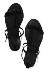 Sandales tressées noires